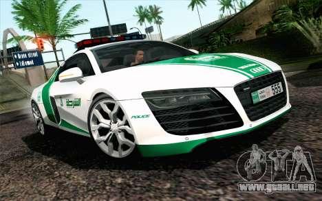 Audi R8 V8 FSI 2014 Dubai Police para GTA San Andreas