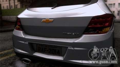 Chevrolet Onix para GTA San Andreas vista hacia atrás