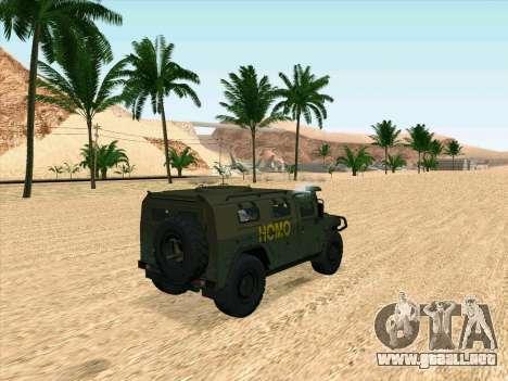 GAZ 2975 para GTA San Andreas vista posterior izquierda
