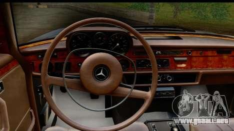 Mercedes-Benz 300 SEL 6.3 (W109) 1967 FIV АПП para visión interna GTA San Andreas