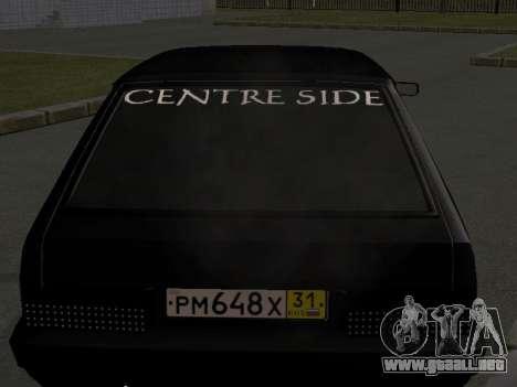ВАЗ 2109 Centro Secundarios para GTA San Andreas left