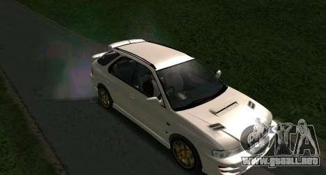 Subaru Impreza Sports Wagon WRX STI para GTA San Andreas vista posterior izquierda