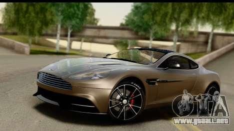 Aston Martin Vanquish 2013 Road version para GTA San Andreas
