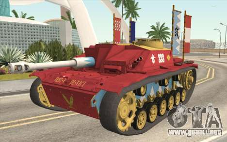 StuG III Ausf. G Girls and Panzer Color Camo para GTA San Andreas