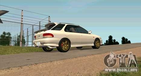 Subaru Impreza Sports Wagon WRX STI para GTA San Andreas left