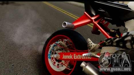 Kawasaki Ninja ZX6R v3.1 Fixed para GTA San Andreas vista hacia atrás