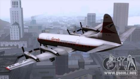 L-188 Electra Garuda Indonesia para GTA San Andreas left