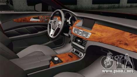 Mercedes-Menz CLS63 AMG para la visión correcta GTA San Andreas