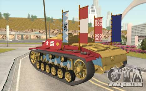 StuG III Ausf. G Girls and Panzer Color Camo para GTA San Andreas left