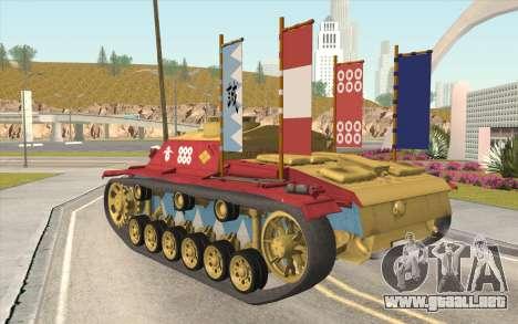 StuG III Ausf. G Girls and Panzer Color Camo para GTA San Andreas left