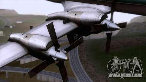 L-188 Electra Air New Zealand para la visión correcta GTA San Andreas