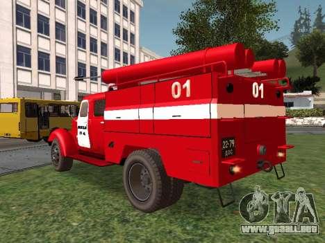 ZIL 164 Fuego para GTA San Andreas vista posterior izquierda