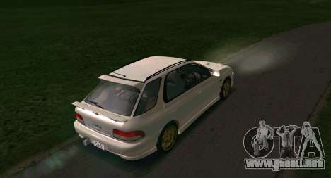 Subaru Impreza Sports Wagon WRX STI para la visión correcta GTA San Andreas