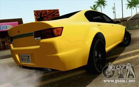 GTA 5 Cheval Fugitivo FIV АПП para GTA San Andreas left