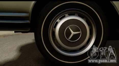 Mercedes-Benz 300 SEL 6.3 (W109) 1967 FIV АПП para GTA San Andreas vista hacia atrás