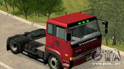 Nissan Diesel Bigthumb CK para GTA San Andreas left