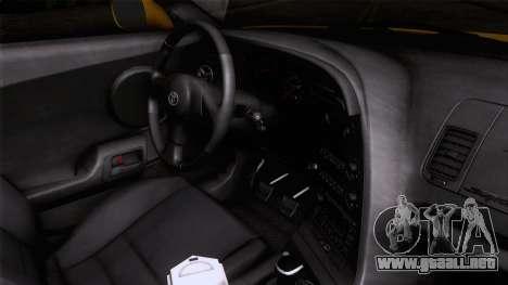 Toyota Supra S-Spec (JZA80) 1993 ECO de la apt para la visión correcta GTA San Andreas