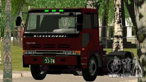 Nissan Diesel Bigthumb CK para la visión correcta GTA San Andreas