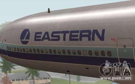 Lookheed L-1011 Eastern Als para GTA San Andreas vista hacia atrás