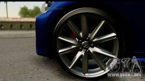 Lexus GS350 para la visión correcta GTA San Andreas