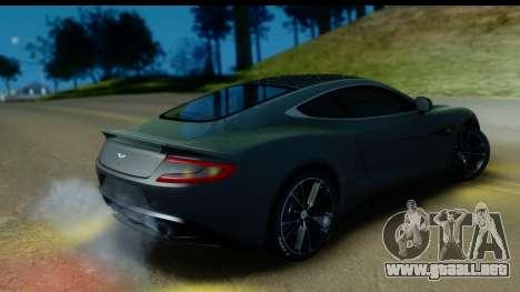 Aston Martin Vanquish 2013 Road version para visión interna GTA San Andreas