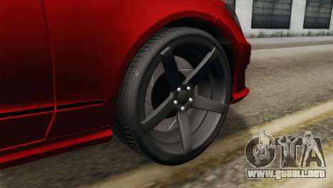 Mercedes-Menz CLS63 AMG para GTA San Andreas vista posterior izquierda