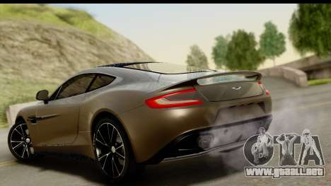 Aston Martin Vanquish 2013 Road version para GTA San Andreas left