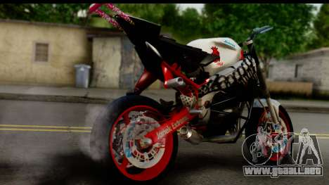 Kawasaki Ninja ZX6R v3.1 Fixed para GTA San Andreas left