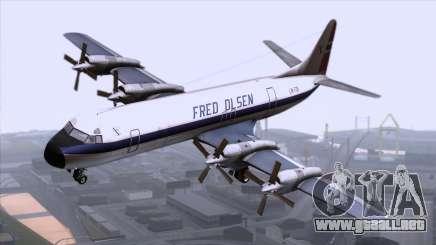L-188 Electra Fled Olsen para GTA San Andreas