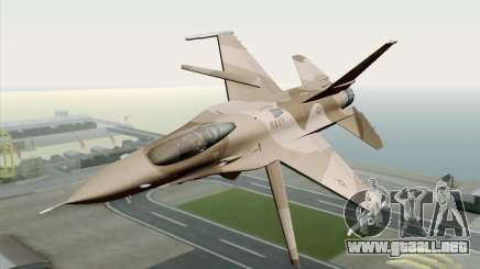 F-16C Fighting Falcon NSAWC Brown para GTA San Andreas