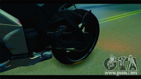 Kawasaki Ninja ZX-10R Super Sonico Itansha para GTA San Andreas vista hacia atrás