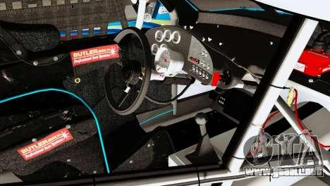NASCAR Dodge Charger 2012 Plate Track para la visión correcta GTA San Andreas