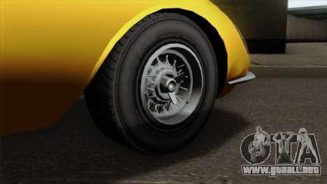 GTA 5 Grotti Stinger v2 para GTA San Andreas vista posterior izquierda