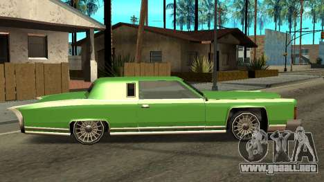 Beta Remington para GTA San Andreas vista posterior izquierda