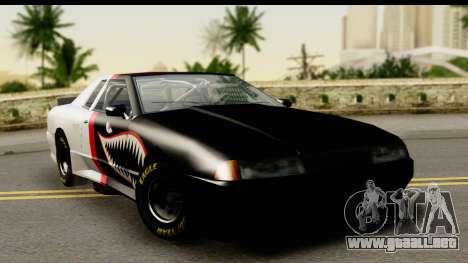 Elegy NASCAR PJ para visión interna GTA San Andreas