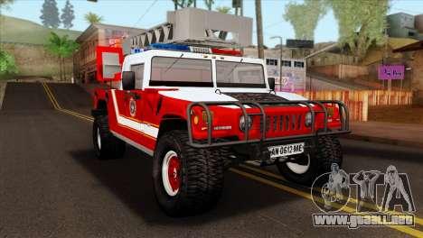 Hummer H1 Fire para GTA San Andreas