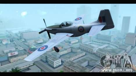 P-51 Mustang Mk4 para GTA San Andreas left