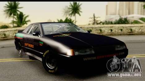 Elegy NASCAR PJ para GTA San Andreas vista hacia atrás
