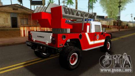 Hummer H1 Fire para GTA San Andreas left