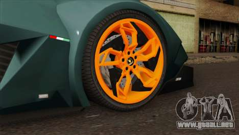 Lamborghini Egoista para GTA San Andreas vista posterior izquierda