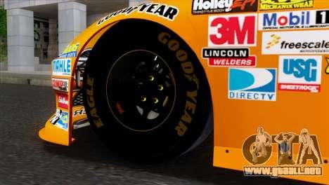 NASCAR Dodge Charger 2012 Short Track para GTA San Andreas vista posterior izquierda