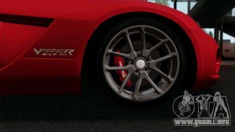 Dodge Viper SRT10 v1 para GTA San Andreas vista posterior izquierda