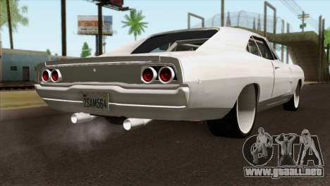 Dodge Charger 1968 para GTA San Andreas left