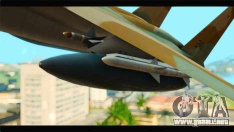 Boeing F-15C IAF para la visión correcta GTA San Andreas