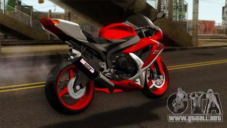 Suzuki GSX-R 2015 Red & White para GTA San Andreas left