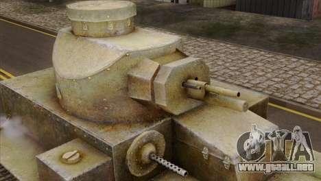 T2 Medium Tank para la visión correcta GTA San Andreas