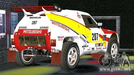 Mitsubishi Pajero para GTA San Andreas vista posterior izquierda