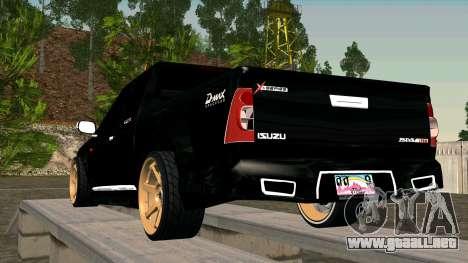 Isuzu D-Max X-Series para GTA San Andreas vista posterior izquierda