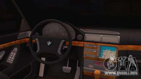 BMW 750iL E38 para GTA San Andreas vista posterior izquierda