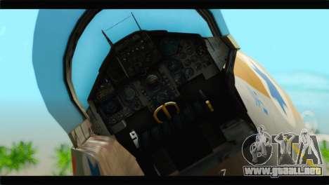 Boeing F-15C IAF para GTA San Andreas vista hacia atrás